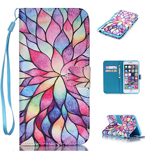 """Nutbro iPhone 6 Plus / iPhone 6S Plus Case, Flip Cover [Stand Feature] with Built-in Credit Card Slots Wallet Case for iPhone 6 Plus (5.5"""") / iPhone 6s PLUS (5.5 inch) 13"""