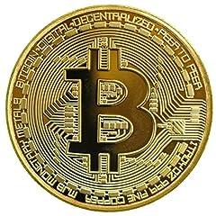 Idea Regalo - 1 x placcata d'oro bitcoin moneta da collezione btc moneta collezione d'arte dono fisica