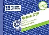 Avery Zweckform 1250 Quittung MwSt. separat ausgewiesen  weiß