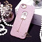 100% Original High Quality - Compatible with Apple iPhone 6 Plus & Apple iPhone 6s Plus. The snap on back case comes fully loaded with cute Bow-Knot pendant charms adding extra bling. Glitter back thin back Case Cover make your phone look very in...