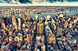 Foto mural New-York Skyline horizont ? decoración ocaso Manhattan america USA deco Big Apple NYC I foto-mural foto póster deco pared by GREAT ART 210x