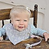 SCHNULLERBAND aus Stoff für Mädchen von Ziggy Baby - 3er Pack - Robuste, farbenfrohe Schnullerkette - mehrfach verwendbar mit Clip für Säuglinge und kleine Kinder - ohne Latex, Nickel oder BPA