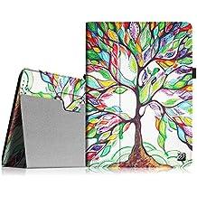 Fintie iPad 4 / 3 / 2 Funda - Folio Slim Smart Case Funda Carcasa con Stand Función y Auto-Sueño / Estela para Apple iPad 2, iPad 3 y el Nuevo iPad 4 Retina, Love Tree