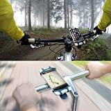 Fahrrad Handyhalterung, Rostfrei und bruchfest, Ausgezeichnet mit einem Design Award, Universaler Fahrradhalter für Telefon, GPS oder Geräte mit einem 4-6 Zoll Bildschirm, Für Straßenfahrräder als auch Mountainbikes, In Sekunden am Lenker zu befestigen und abzunehmen, Auch kompatibel mit Motorrädern und Scootern -