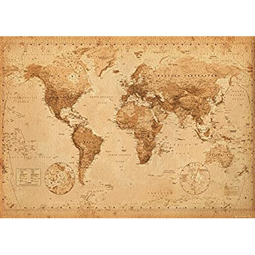 Large poster amazon gb eye world map antique style giant poster multi colour gumiabroncs Images