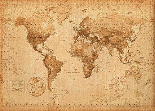 GB Eye Ltd Antique Style - Mapa del Mundo