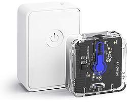 Capteur Moniteur de Température et d'Humidité Intelligent (AVEC HUB), Thermomètre et Hygromètre Compatible avec App Meross, M