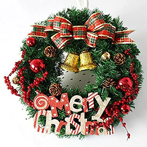 LXY Girlande Rote Beeren Garten Dekorative Front Tür Kranz Weihnachten Geschenk , 60CM