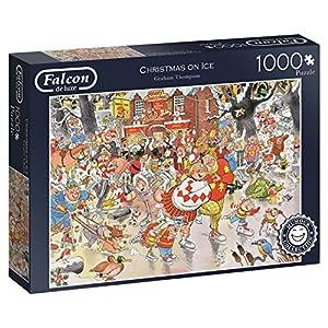 Jumbo Falcon de Luxe Christmas on Ice 1000 pcs Puzzle - Rompecabezas (Puzzle Rompecabezas, Comics, Adultos, Niño/niña, 12 año(s), Interior)