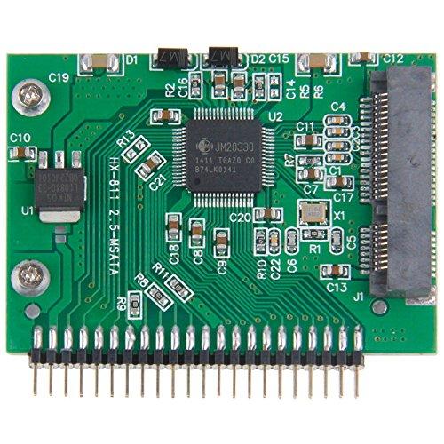 YCDZ STORE Computerkabel mSATA Mini-PCI-E-SSD-Buchse auf 5V 2,5 Zoll 44-Pin-IDE-Stecker-Konverterkarte -
