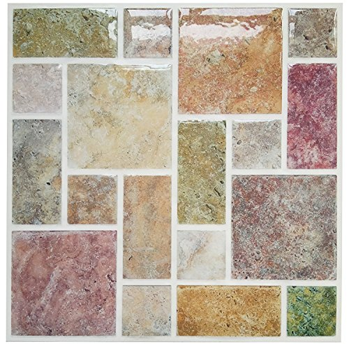 Tile U0026 Sticker 4 Pack Peel And Stick Tile Vinyl Kitchen Backsplash  Pegatinas De Pared