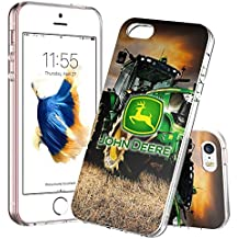 iPhone SE Funda,iPhone 5S Funda,iPhone 5 Funda KALKDA absorción de golpes carcasa protectora de Tpu anti-scratch soporta carga inalámbrica para iPhone SE/5S/5 ( Crystal Clear) - KALKDAOG000028