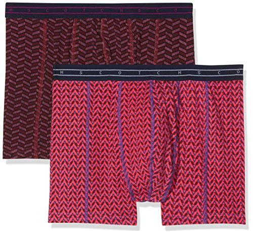 Scotch & Soda Herren Classic Boxer Short with Colourful All-Over Print Boxershorts, Mehrfarbig (Combo A 0217), Large (per of 2) (Soda-boxer)