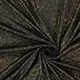 Fabulous Fabrics Viskosejersey Goldregen – Gold/schwarz
