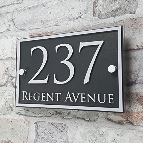 80ce79870413 HOUSE SIGN SOLUTIONS House Number Sign/Address Plaque Door Number  Personalised Sign