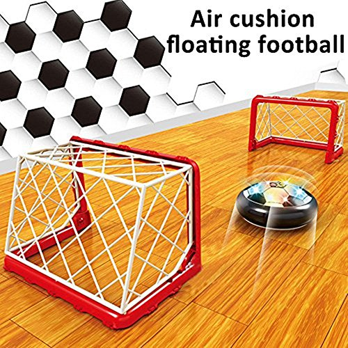 Kinder-spiel-fußball-trikot (Air Power Fußball Soccer Disk Disc mit Fußballtor Hover Ball mit LED Beleuchtung für Drinnen und Draußen Air Fussball Spielzeug Sport Spiele für Kinder Jungen und Mädchen -Hmjunboys (Soccer Gate Set))
