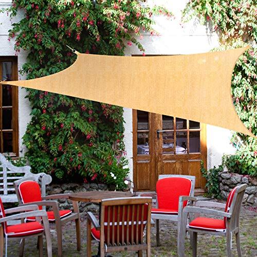 Kupton Sun Sonnensegel, 95% UV-Block Sonne Schatten Segel wasserdicht und luftdurchlässig, Perfekt für Außenterrassen Hinterhof Hof Parkplatz Schwimmbad Gärten, Größe 6.56 'x 10'