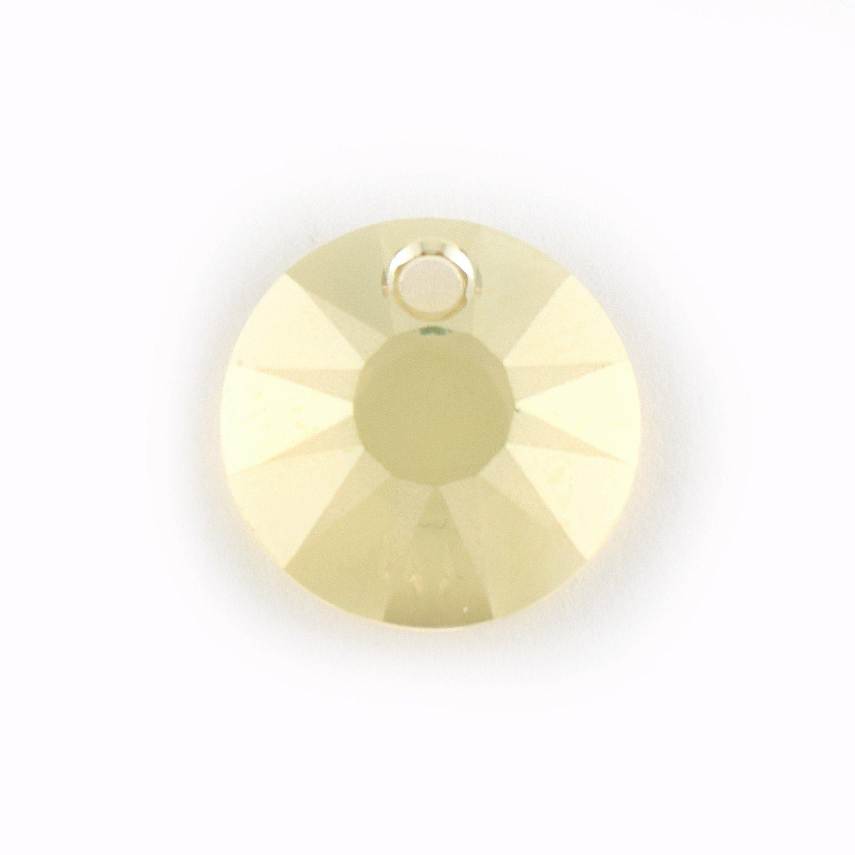 12�mm pendente sole Swarovski Golden Shadow Qty 1