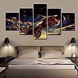 FJLOVE Fxwj Impression Giclée en Uzumaki Naruto - Rasengan Peinture sur Toile 5 Pieces Image Déco d'art Murale Tableau,C,100x