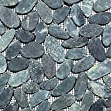 Ciottoli affettato a tinta unita nero 5/7Sassi di fiume fiume ciottoli di pietra mosaico