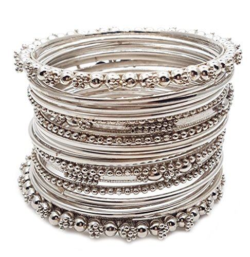 YouBella Antique Look Jewellery Silver Plated Traditional Bracelet Bangles set for women...