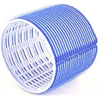Hair Tools Velcro Cling Hair Rollers - Jumbo Dark Blue 76 mm x 6