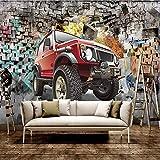 YUANLINGWEI Wandbild Tapete Benutzerdefinierte Wandbilder Tapete Auto Geländewagen 3D Stereoskopische Tapete Wohnzimmer Bar Restaurant Café Tapeten,270Cm (H) X 350Cm (W)