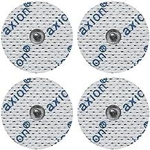 4 electrodos para Beurer Hydas y Vitalcontrol SEM 40//42 /43/44 (32mm diámetro), almohadillas conexión de botón 3,5mm