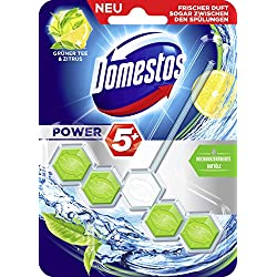 Domestos WC-Stein Power 5 Grüner Tee & Zitrus 55 ml, 5er Pack (5 x 55 ml)
