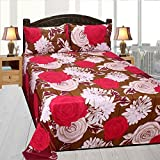 Homedock Premium Pollycotton Double Bedsheet with 2 Pillow Covers