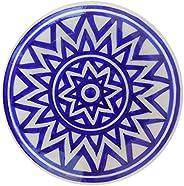 Aditya Blue Art Pottery Ceramic Art Pottery Ceramic Decorative Wall (Blue, 15 cm x 15 cm x 3 cm)