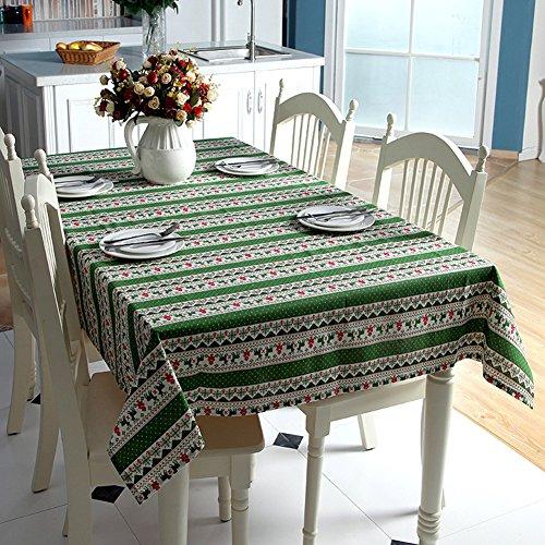Swallowuk Home Decor Weihnachten Tischdecke Boho Schreibtisch Tuch Party Esszimmer Dekoration Festliche Tischdecke Ornament (Grün, 140cm×220cm)