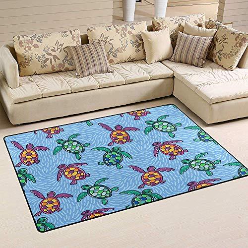 Liz Carter Meeresschildkröte Tier Fisch Teppiche, Badematte rutschfeste Bodenmatte für Fußmatten Wohnzimmer Schlafzimmer 36 x 24 in