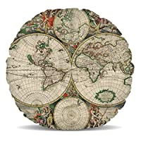 Magnifiquement préservée carte du monde de 1689montrant le monde de style globe.Ce beau coussin de décoration d'intérieur est si doux et moelleux, vous ne peut pas résister caressant elle. Un excellent ajout à toute salle de séjour, chambre, de l'en... [Méridienne]
