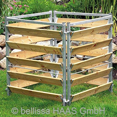 Komposter Holz / Metall L.100xB.100xH.100 cm 99150