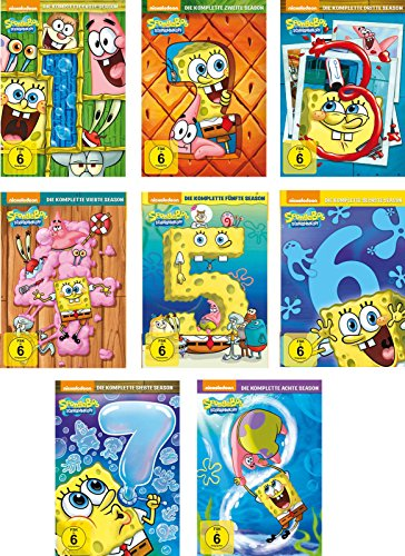 Produktbild SpongeBob Schwammkopf - Season 1-8 im Set - Deutsche Originalware [26 DVDs]