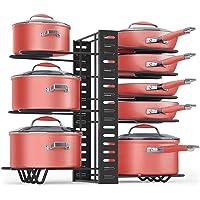 Aimbinet Porte-casseroles Organisateur de Pot Réglable Rangement de Cuisine Support de Pot pour Poêles avec 8…