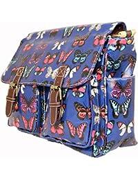 Sacoche en toile cirée Miss Lulu Messenger épaule sac à dos à l'école Collège Plus Beau Perry Toile Sac