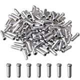 HuAn 100 Pcs Bike Cable End Caps, Aluminum Alloy Brake End Cover Cable Tips Crimps for Mountain Bicycle Road Bike