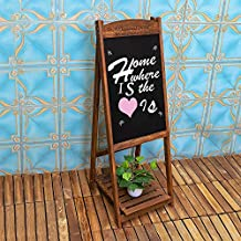 YATAI Wooden Writing Drawing Board With Stand– Blackboard Hand Writing Boards - Ideal for Restaurants Menu, Wedding, Party, Arts & Crafts, Drawing, Greetings