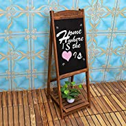 YATAI Wooden Writing Drawing Board With Stand– Blackboard Hand Writing Boards - Ideal for Restaurants Menu, We