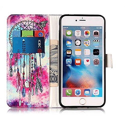 iPhone 6/6S Coque, Voguecase Étui en cuir synthétique chic avec fonction support pratique pour Apple iPhone 6/6S 4.7 (marbre-bleu pink)de Gratuit stylet l'écran aléatoire universelle campanula 05/aquarelle