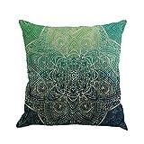 Riiya Cotton Linen 18*18 Pillowcase Throw PillowCase Mandala pattern Sofa Decoration