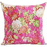 ZXKEE cojines Cover Estampado Floral artística decorativos funda cojin Plaza 45x45 cm (Rosa)