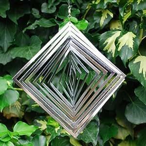 Diamond Shaped Steel Wind Spinner For The Garden