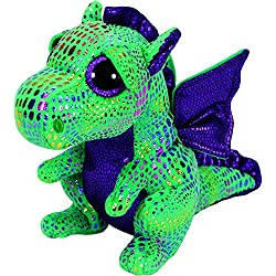 TY - Beanie Boos Cinder, dragón, 23 cm, color verde (United Labels Ibérica 37052TY)