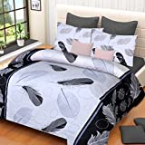 #3: Home Elite Dynamic Print 120 TC Cotton Double Bedsheet with 2 Pillow Covers - Floral, Multicolour