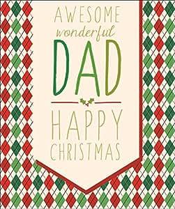 Awsome Dad stile contemporaneo, finitura Glitter, con biglietti di auguri di Natale