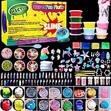 HSETIY Unicorn DIY Slime kit Supplies-6 Cloud Slime,6 Clear Slime,3