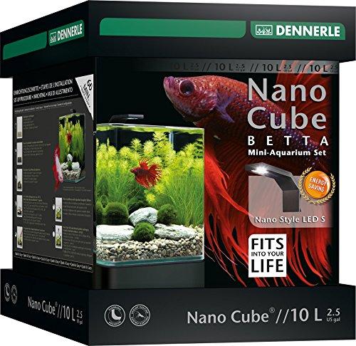 Dennerle Nano bettacube Stil Neue Zubehör LED für Aquaristik 10L Größe S - 3